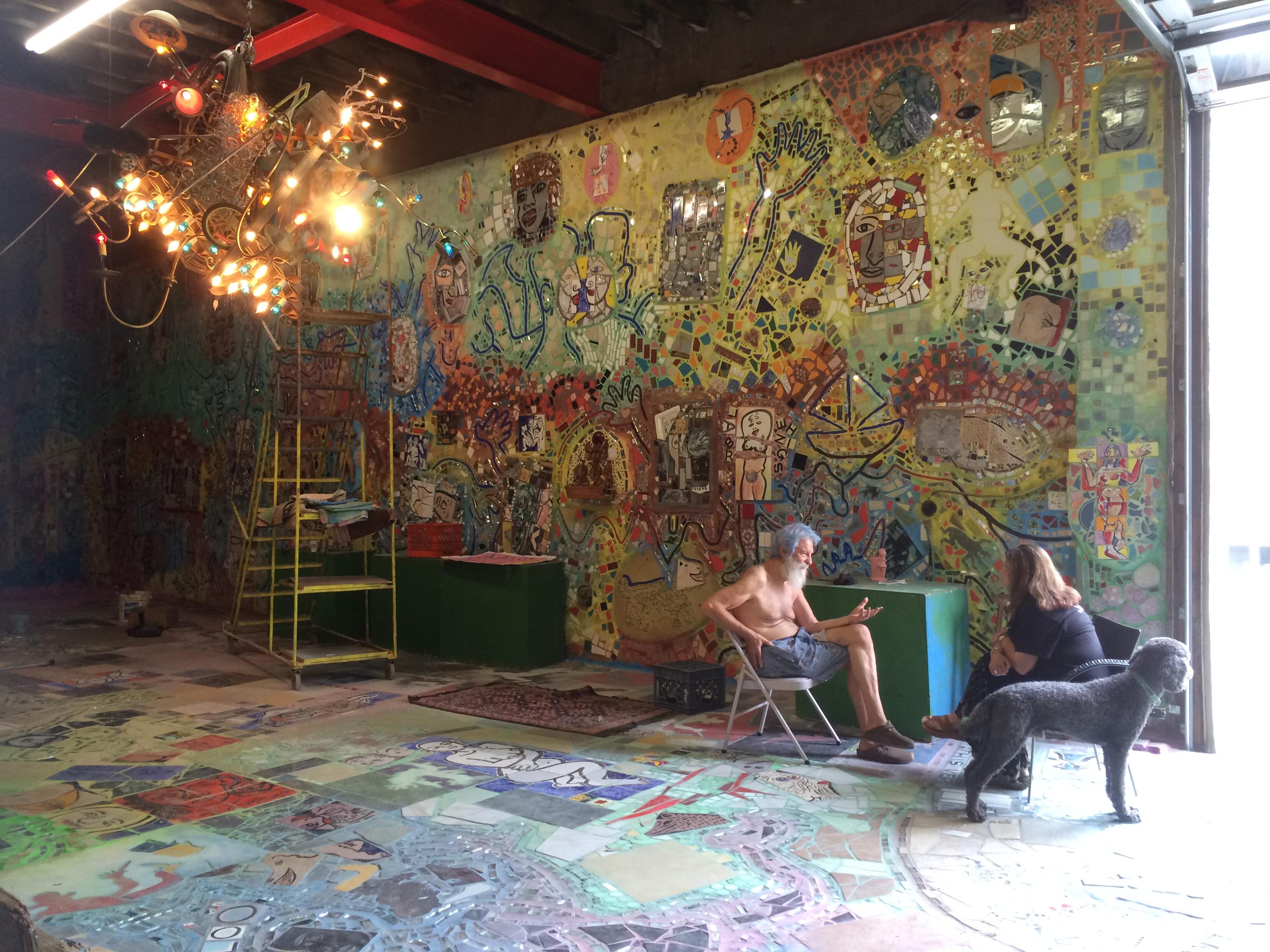 Isaiah Zagar, master artist, Michele Saffier, LMFT, CSAT-S